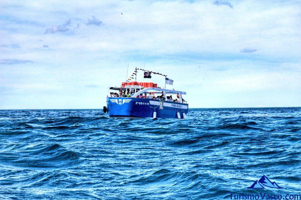 barco, rutas en barco en Donostia San Sebastian