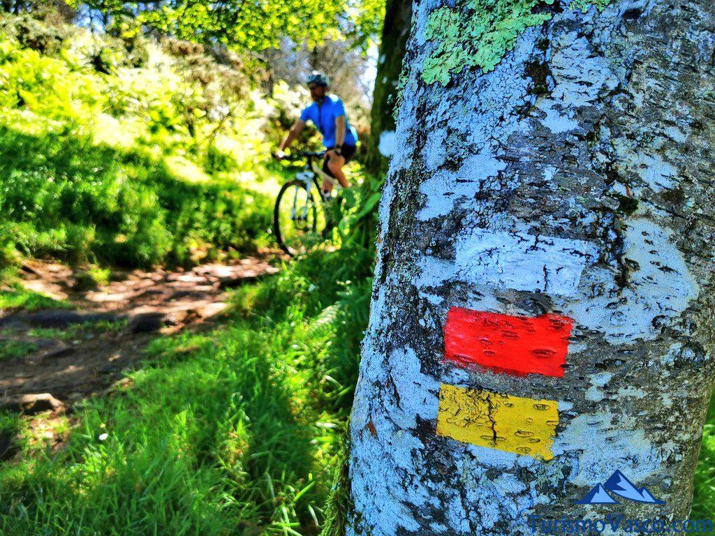 bicicleta, ruta de los dolmenes Karaketa Irukurutzeta