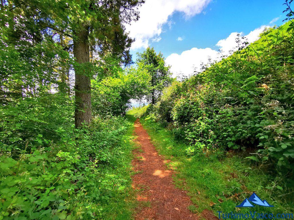 camino de tierra, ruta de los dolmenes Karaketa Irukurutzeta