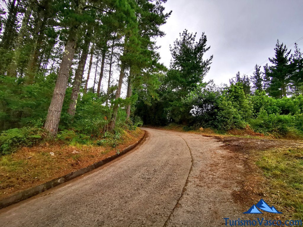carretera desde akorta a laida, San Pedro Atxarre ruta Urdaibai