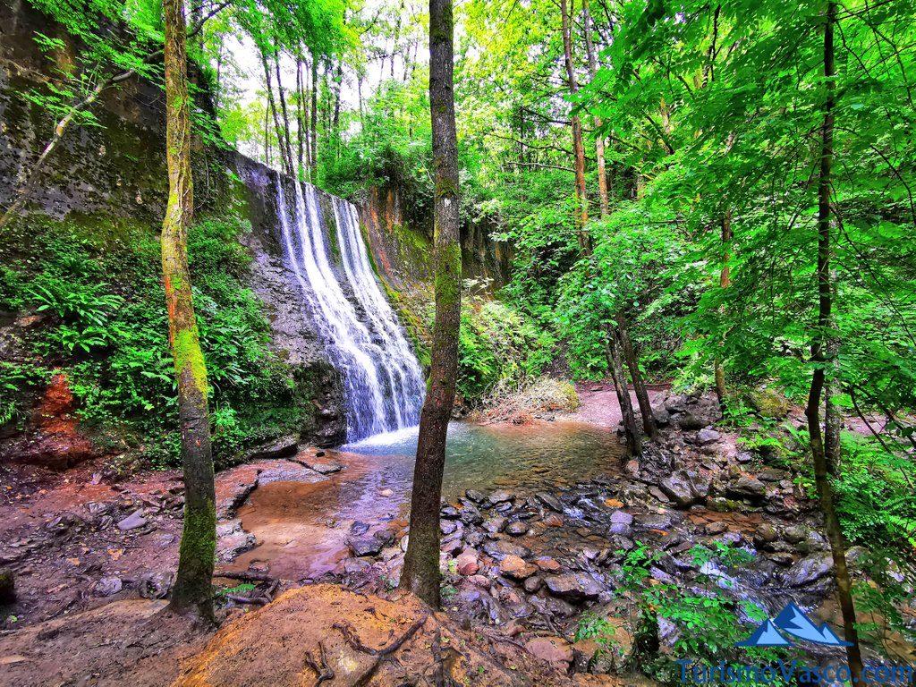 cascada bolintxu, Bolintxu ruta cascada