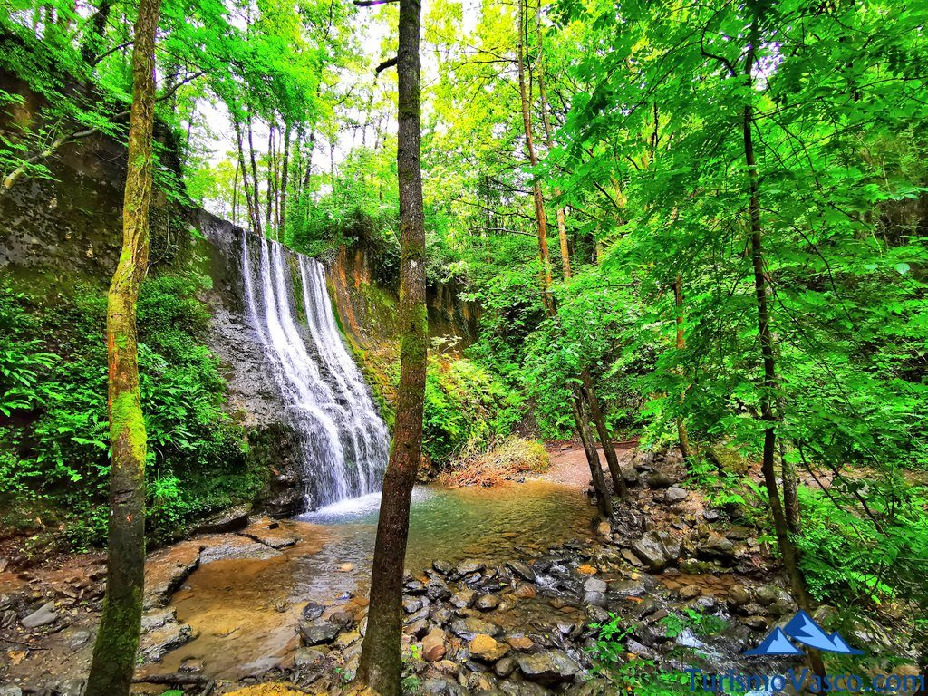 cascada bolintxu vegetacion, Bolintxu ruta cascada