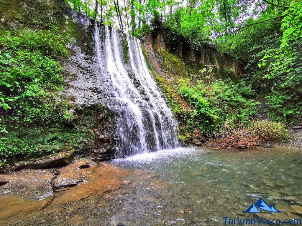 poza y cascada bolintxu, Bolintxu ruta cascada