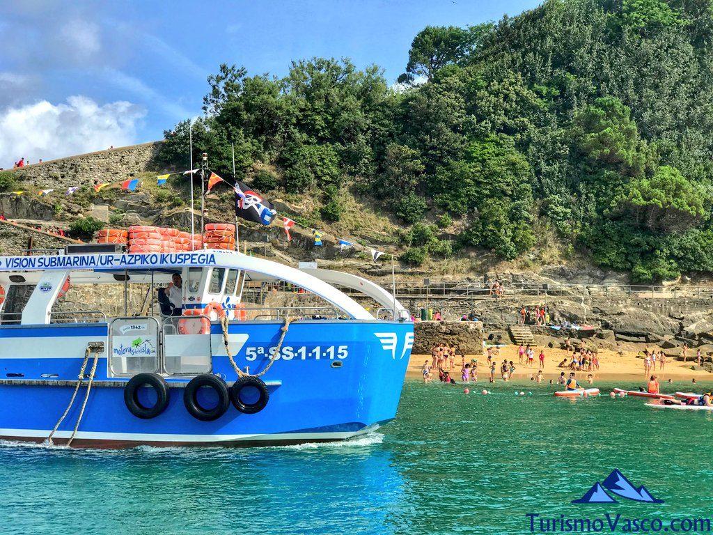ruta en barco a la isla santa clara, rutas en barco en Donostia San Sebastian