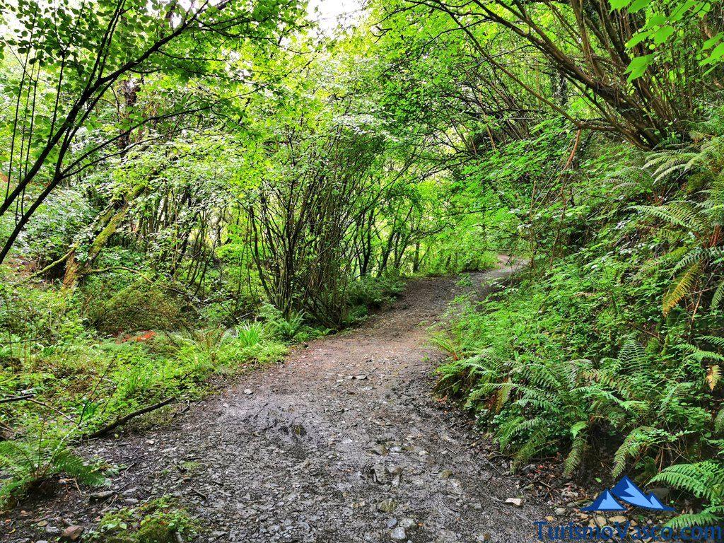 tramo superior ruta bolintxu, Bolintxu ruta cascada