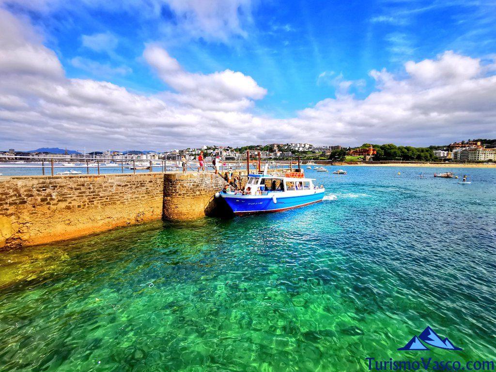 barcos motoras de la isla, rutas en barco en donostia san sebastian