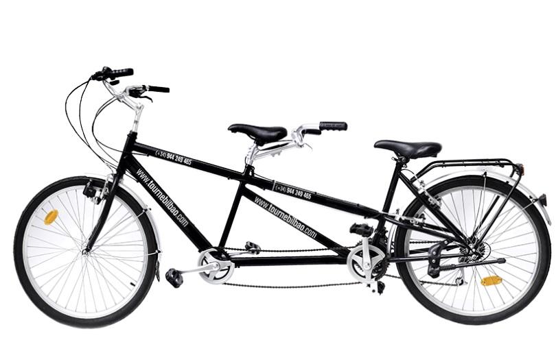 bicicleta tandem, alquiler de bicicletas en Bilbao