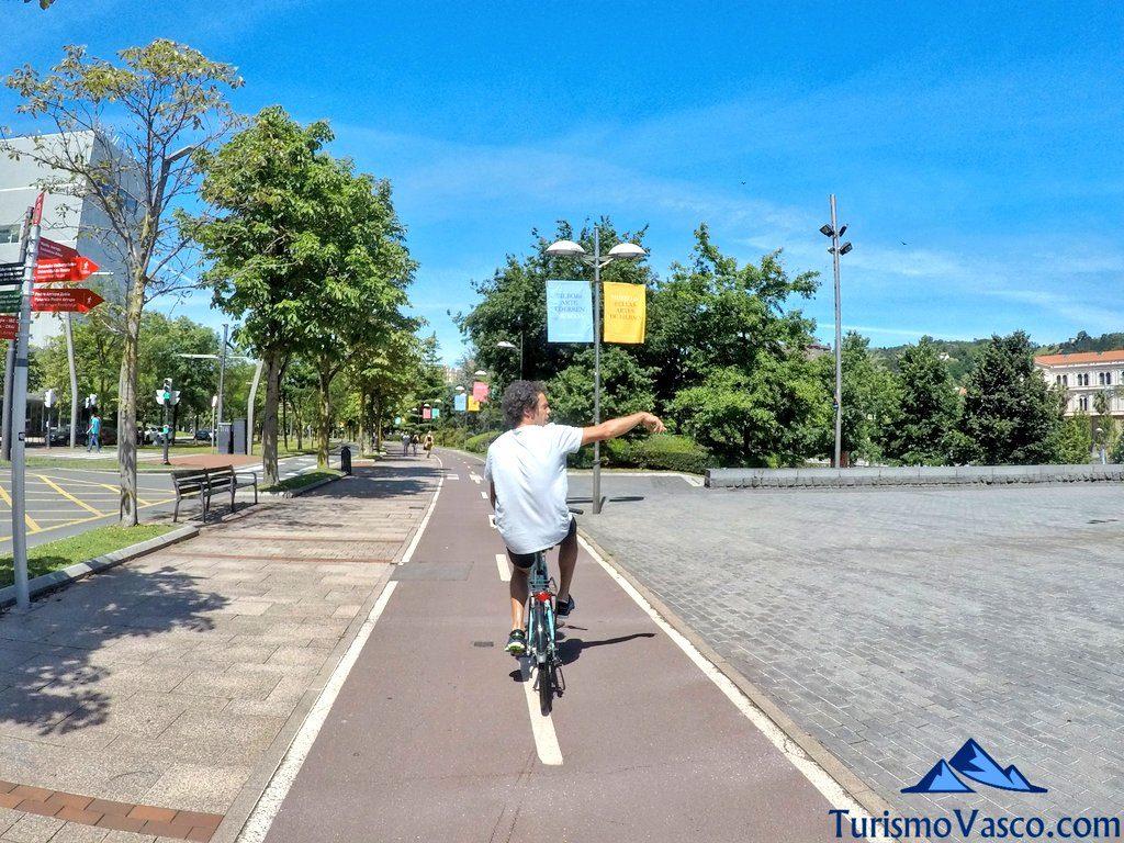 carril bici bilbao, alquiler de bicis en bilbao