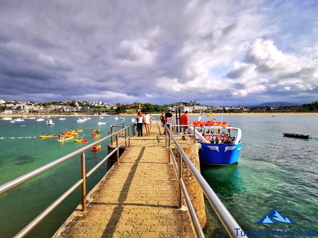 embarcadero isla santa clara, rutas en barco en donostia san sebastian