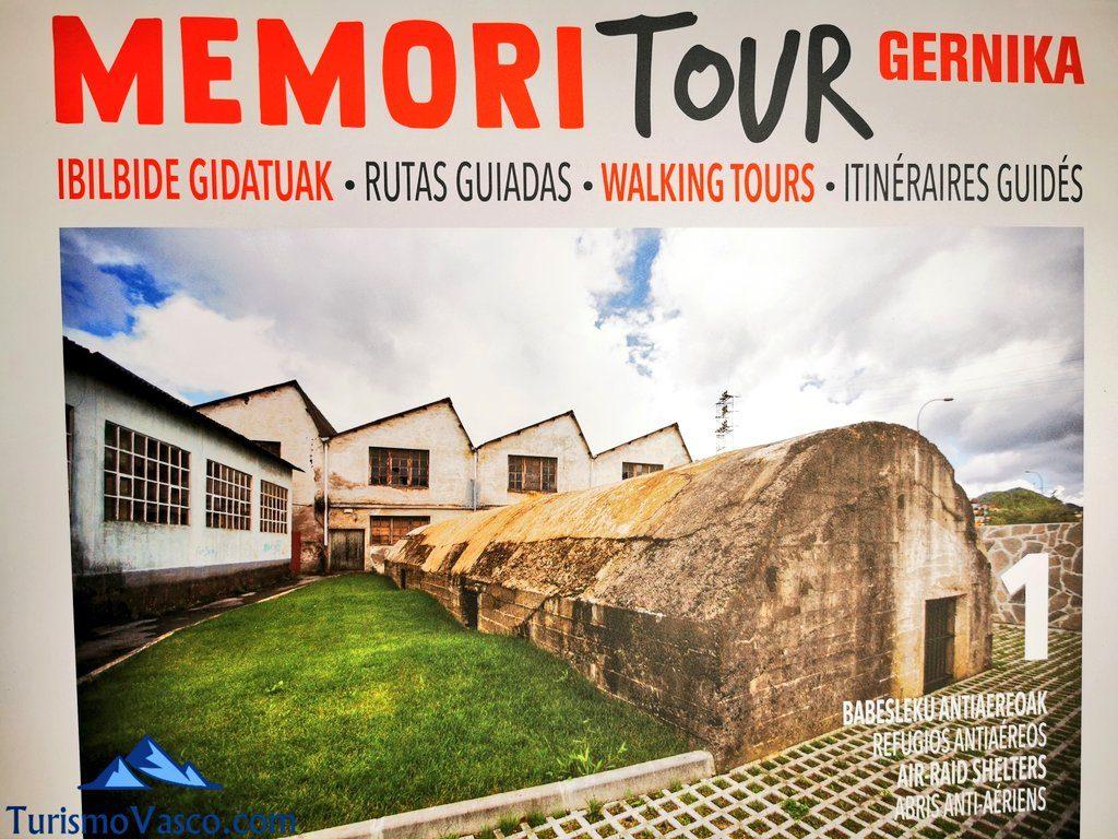memoritour gernika refugios antiaereos, rutas guiadas en Gernika