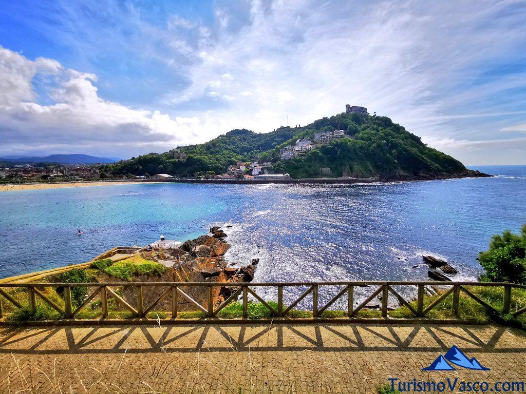 mirador isla santa clara, isla de donostia san sebastian