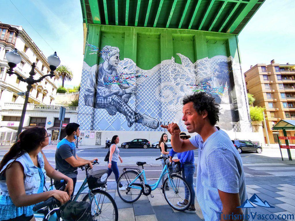 mural puente la salve, visitas guiadas en Bilbao