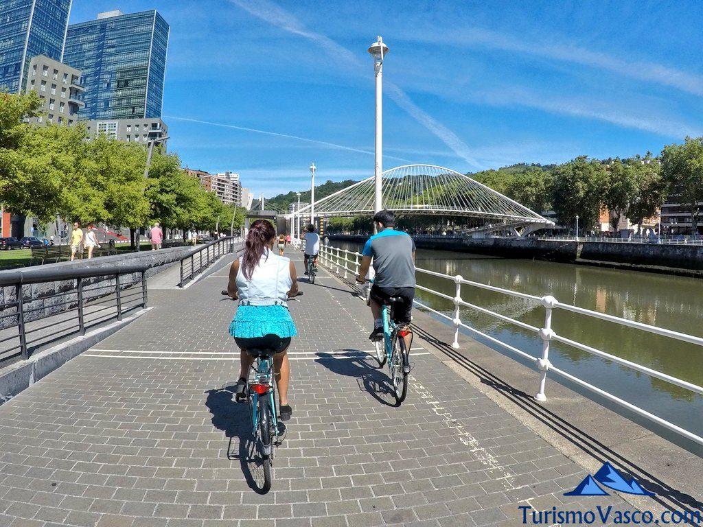 visita guiada en bicicleta, visitas guiadas en Bilbao