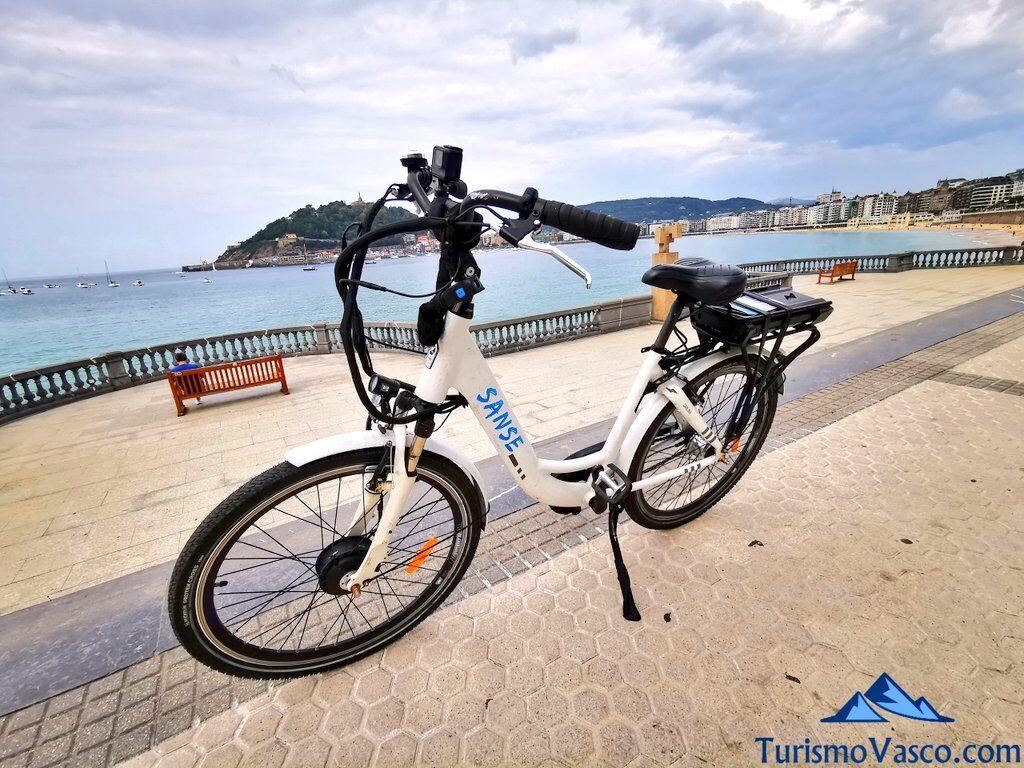 bici bahia de la concha, alquiler de bicicletas en Donostia San Sebastian