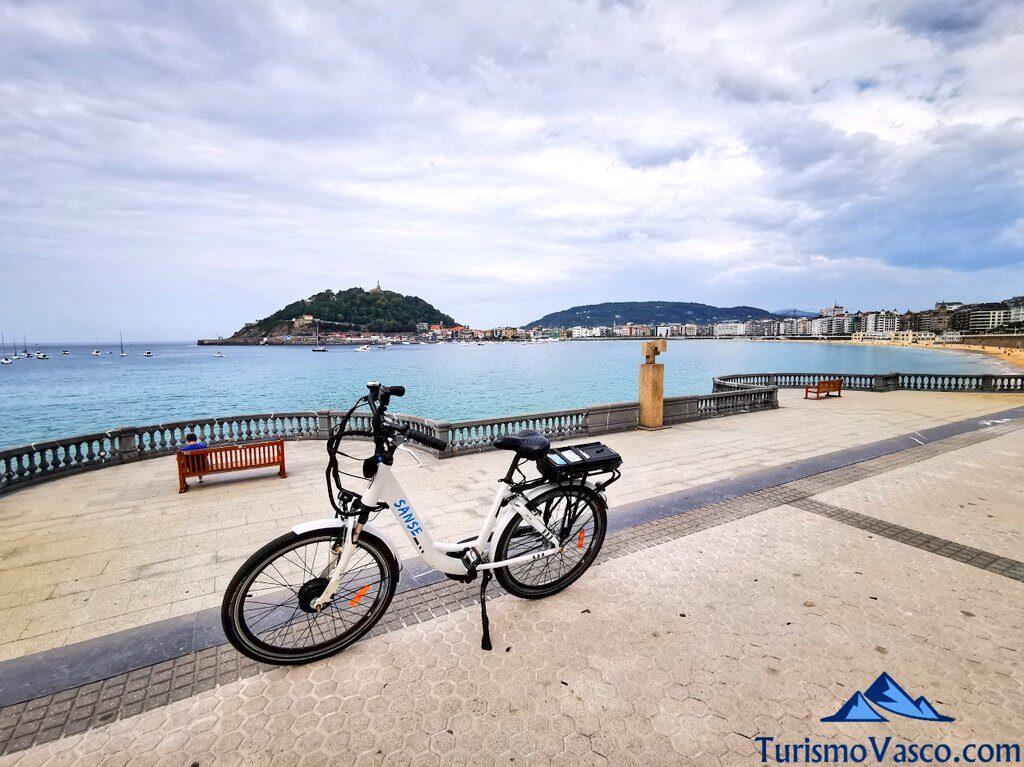 bicicleta paseo de donostia san sebastian, alquiler de bicicletas en Donostia San Sebastian