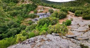 desvio entrada cueva,ruta cueva de Los Goros