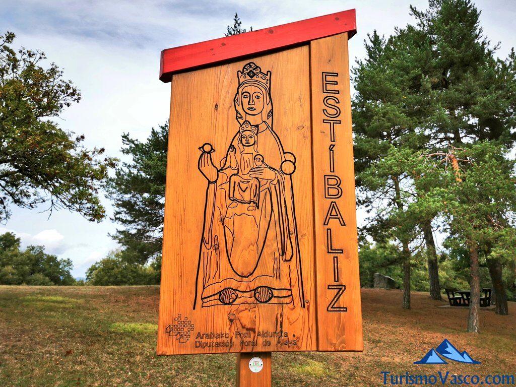 cartel del Santuario de Estibaliz