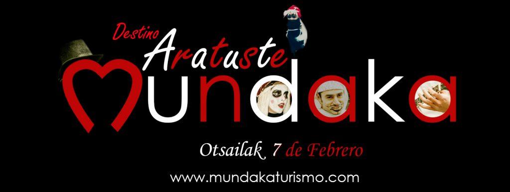 logo aratuste Mundaka, carnavales en Mundaka