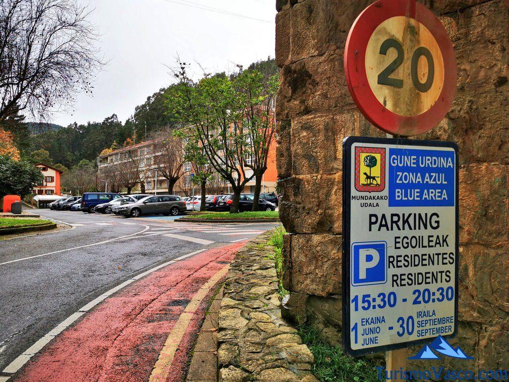 parking, aparcar, Mundaka qué ver y hacer