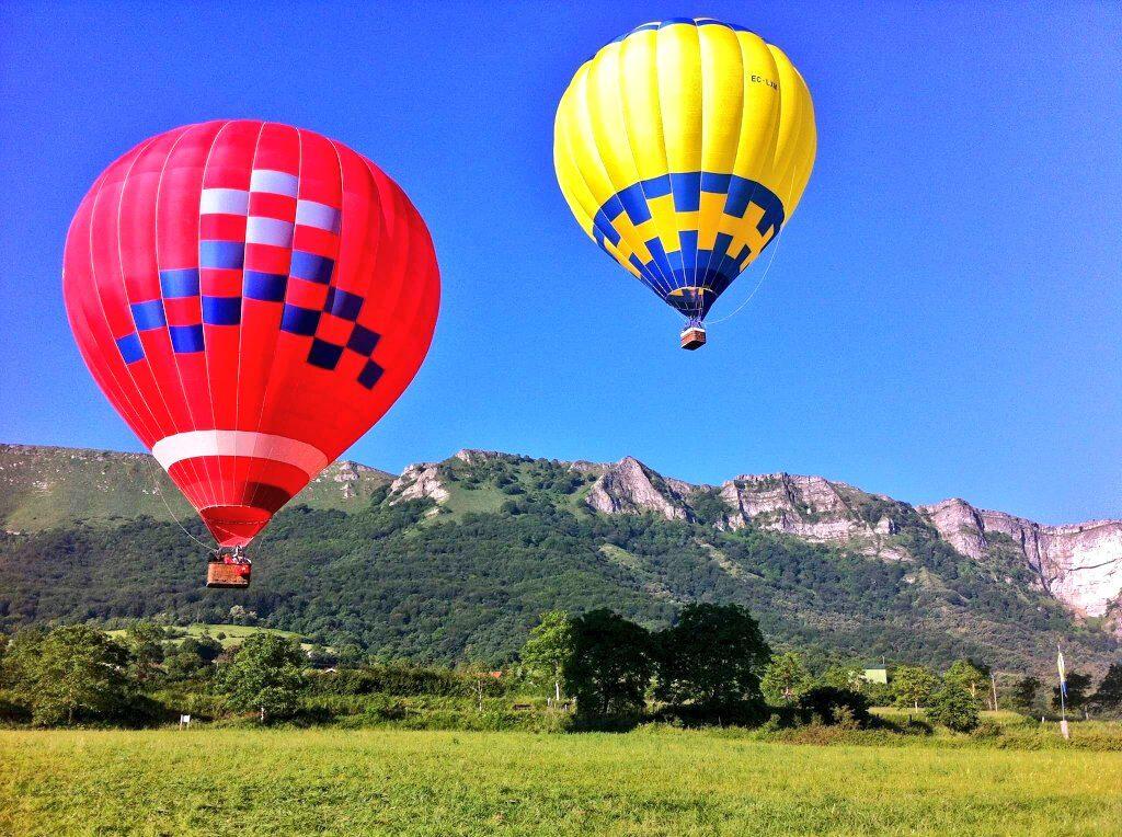 paseo en globo en el pais vasco, vuelo en globo en Euskadi