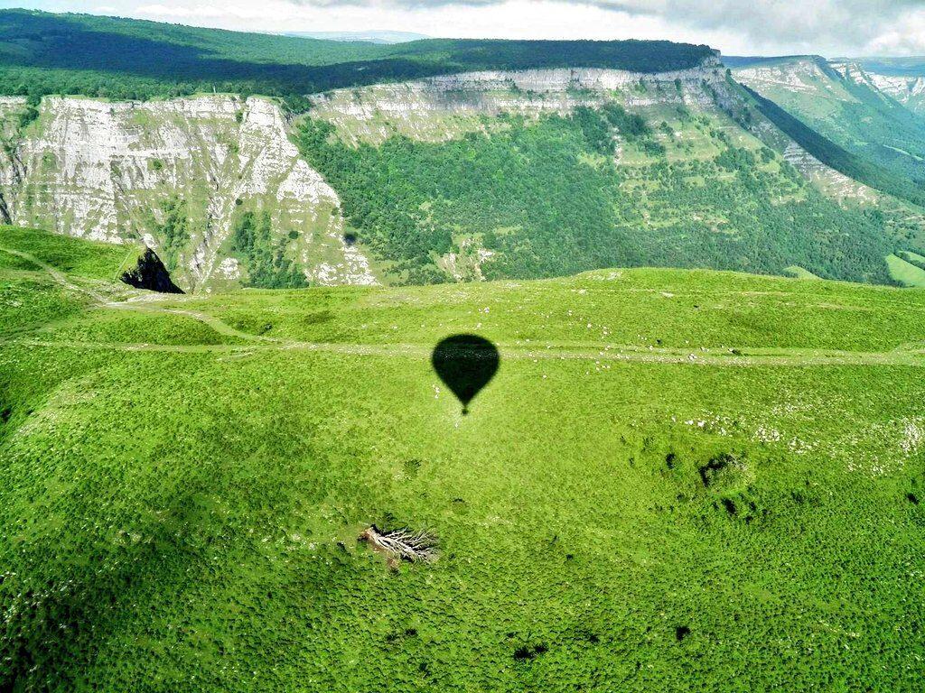 sombre de globo, vuelo en globo en Euskadi