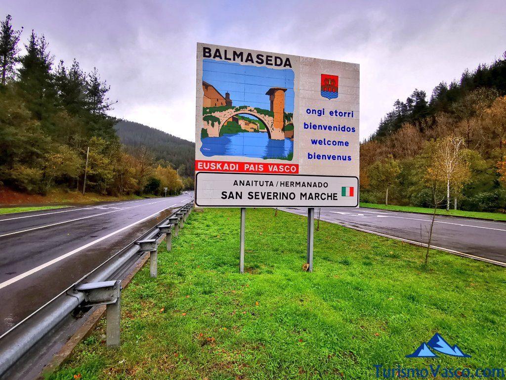 cartel bienvenido ongi etorri balmaseda, Balmaseda qué ver y hacer
