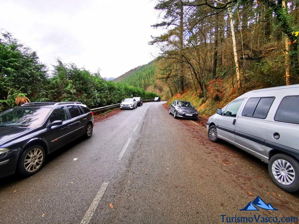 aparcamiento, carretera, Ruta embalse de Aixola