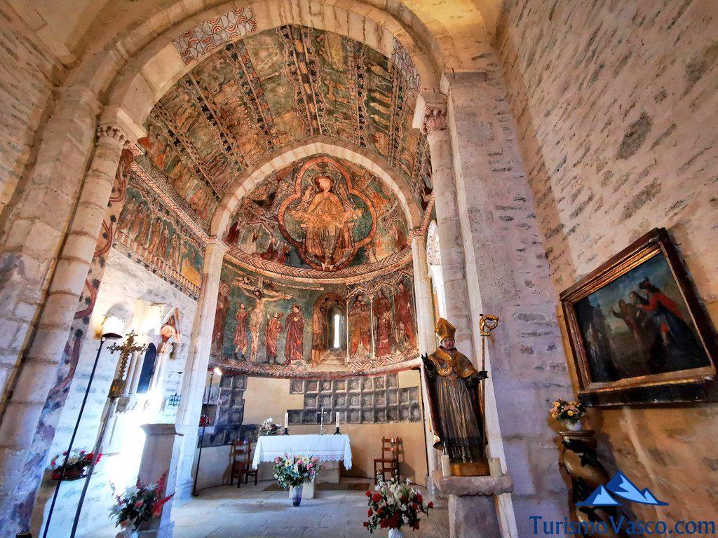pinturas de la iglesia de Gazeo de Araba