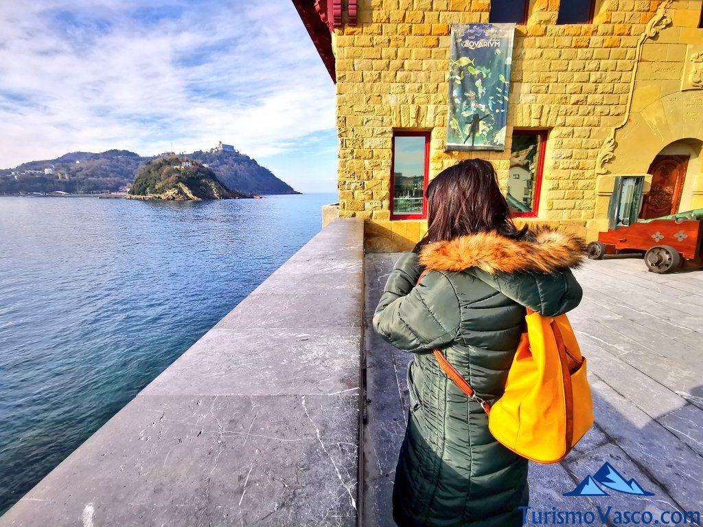 isla santa clara desde el aquarium, Donostia San Sebastian qué ver y hacer