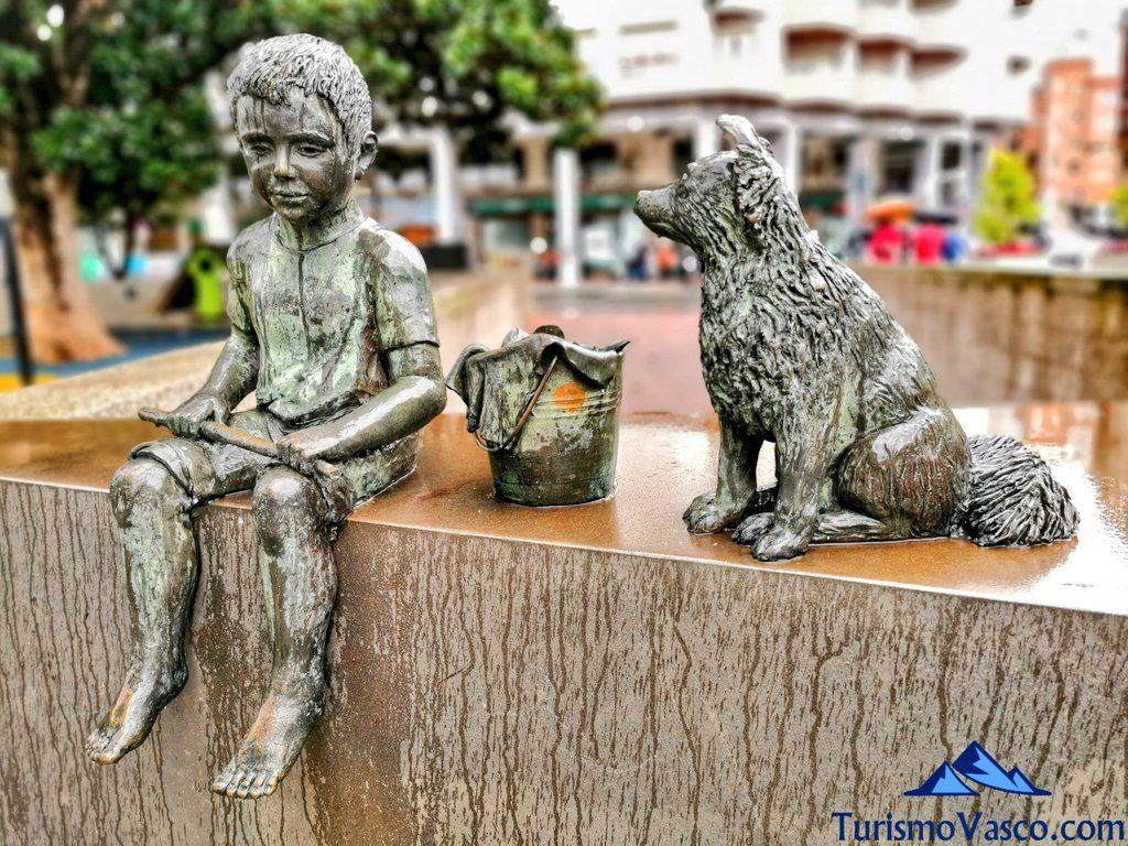 niño pescando, museo de esculturas santurtzi, Santurtzi qué ver