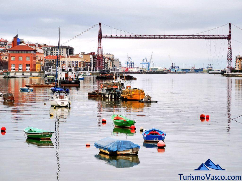 puente bizkaia, puente colgante, botes ria portugalete, Portugalete qué ver y hacer