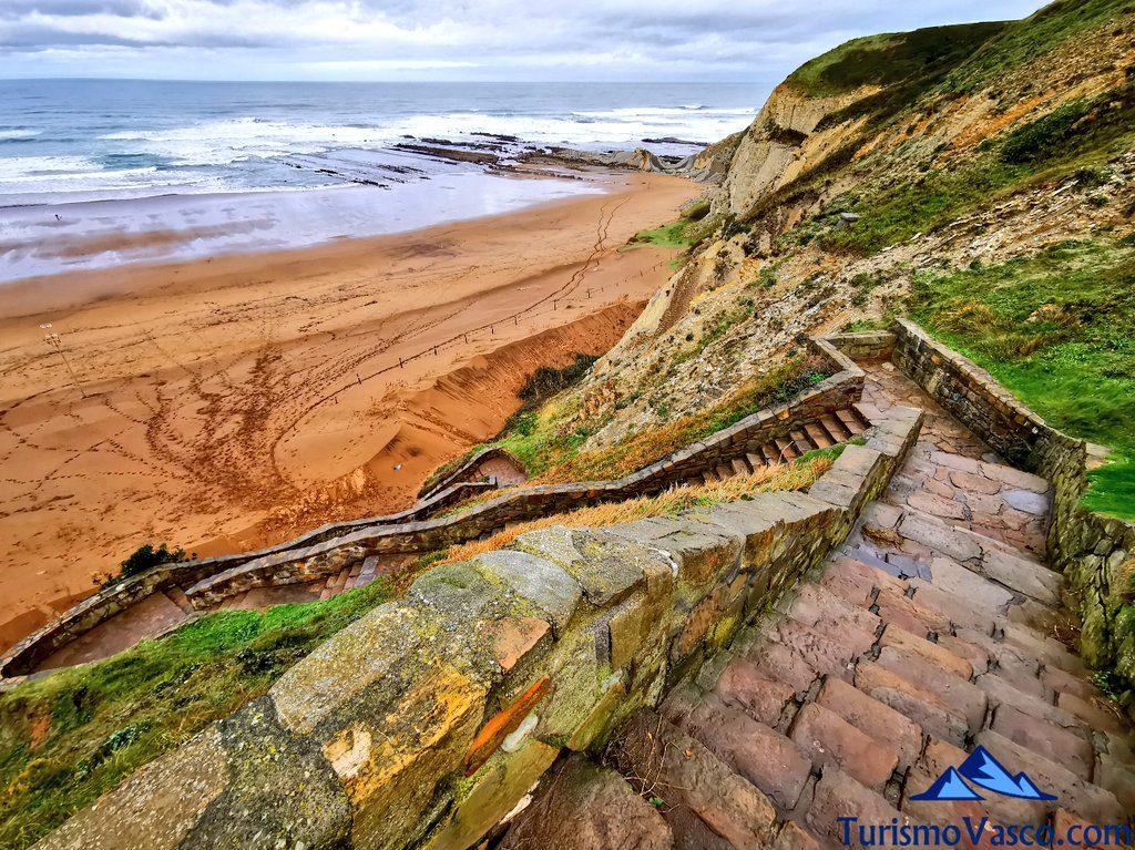 escaleras playa la salvaje, Playas de Sopela