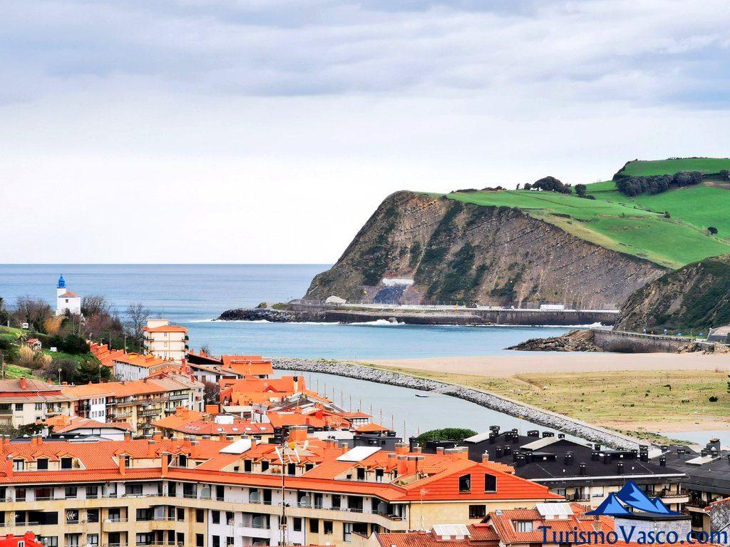 zumaia, lighthouse, playa santiago desde las alturas, Zumaia qué ver y hacer