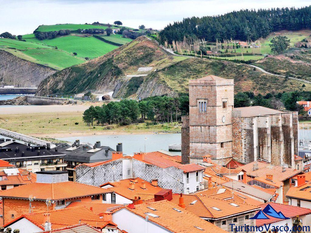 zumaia, iglesia san pedro, desde el camino de santiago, Zumaia qué ver y hacer