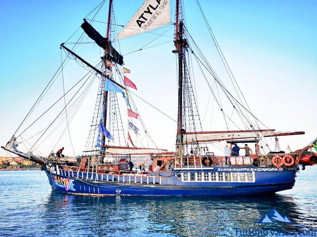 barco atyla en bilbao, ruta velero pirata Atyla Bilbao