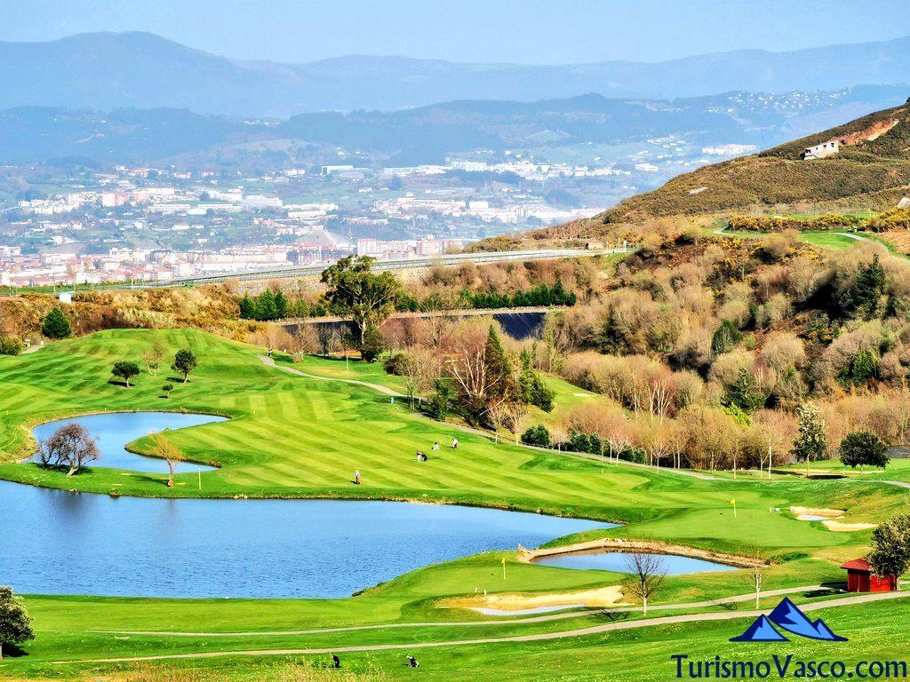 vistas desde meaztegi golf, Golf en Bilbao, Campos de golf de Bilbao