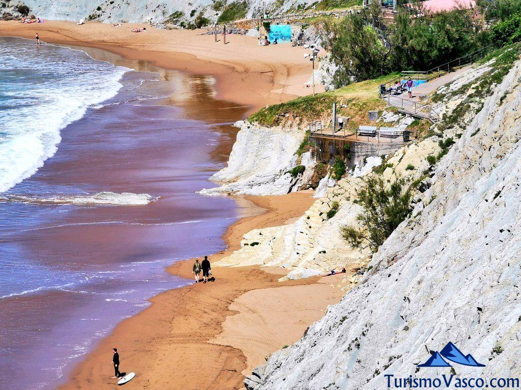playa y acantilados de Sopela, flysch de Bizkaia