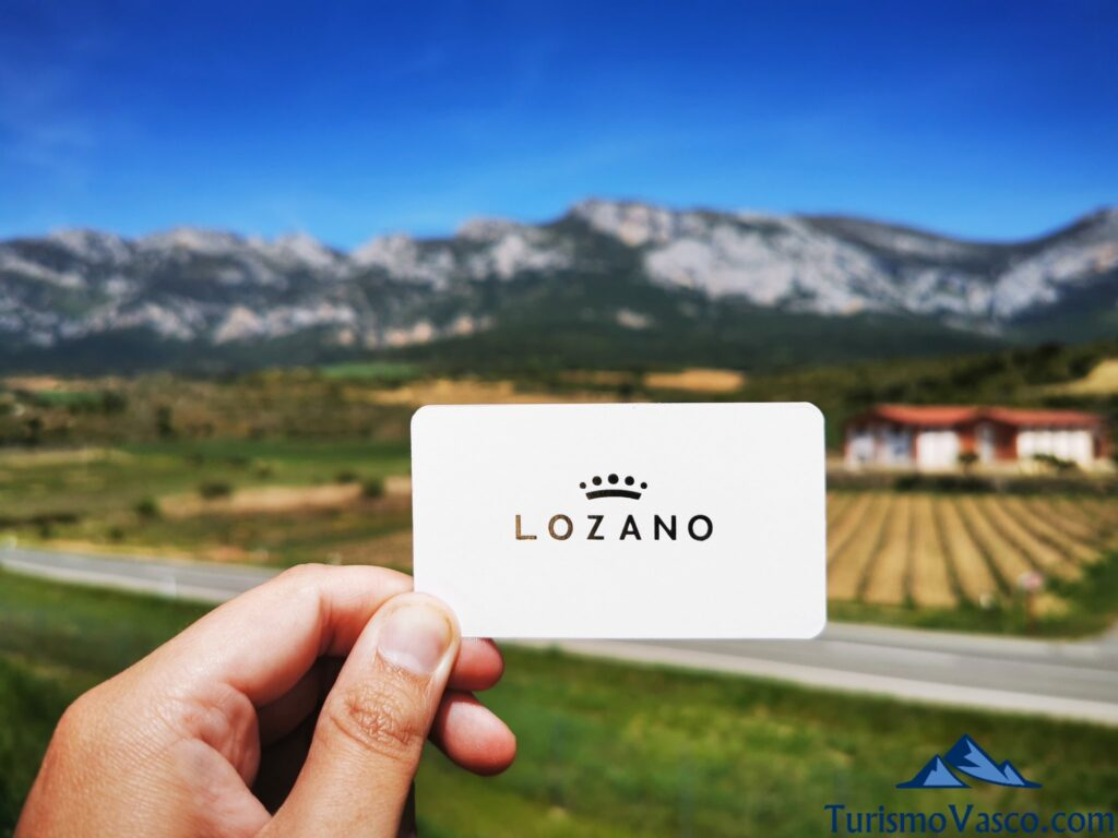 tarjeta de la bodega lozano, visitas guiadas a bodegas de Rioja Alavesa