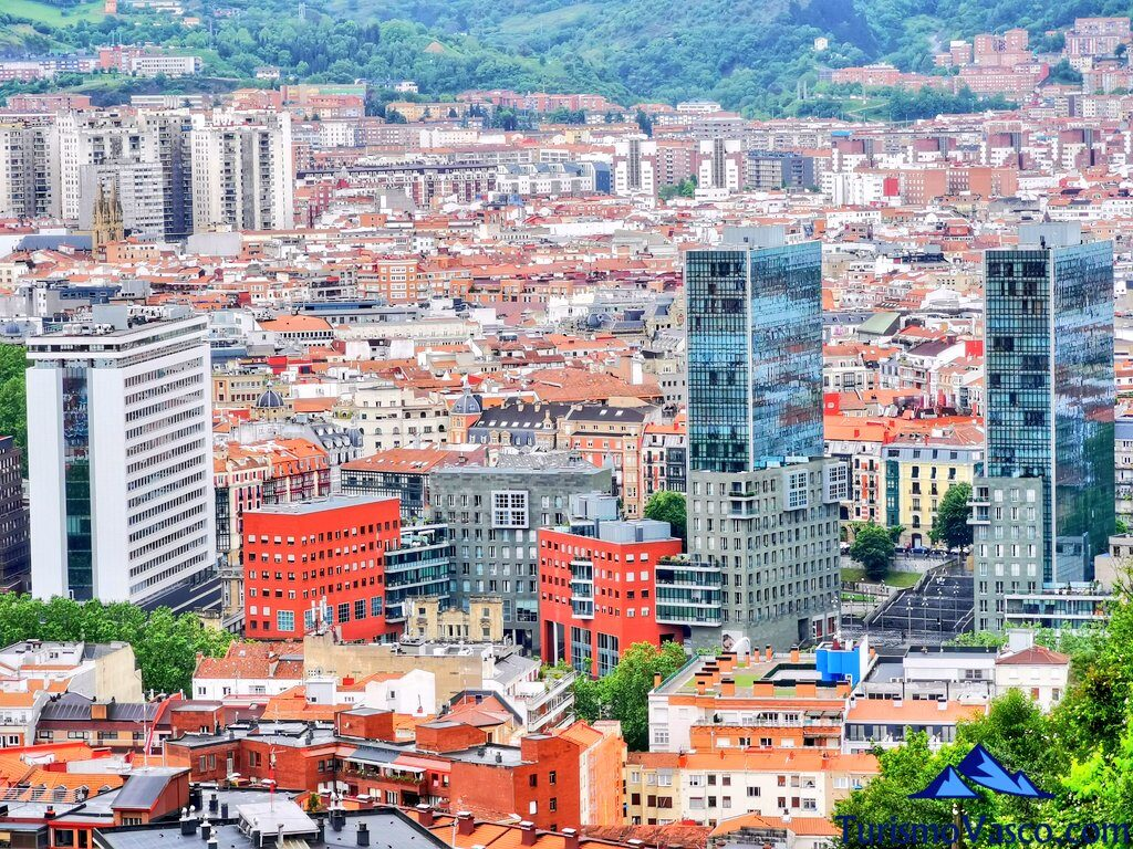 Bilbao desde la via vieja de Lezama