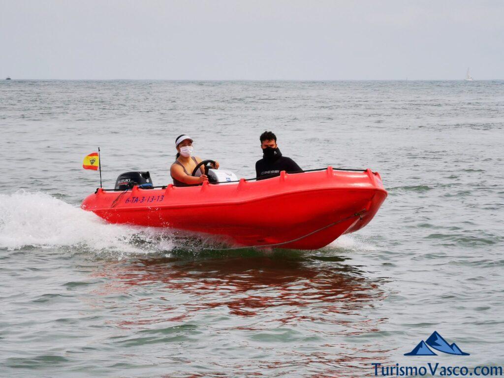 alquiler sin licencia en Hindarribia, alquiler de barco en Euskadi