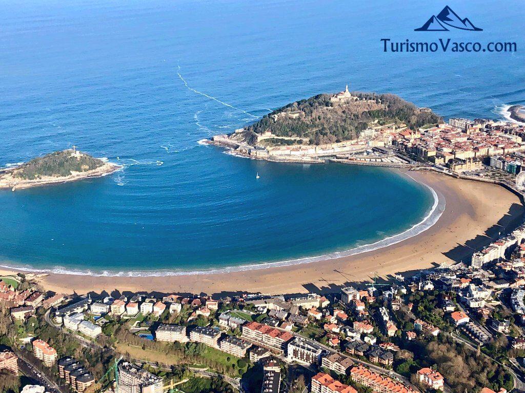 bahia de la concha desde avioneta, qué ver en Donostia San Sebastian