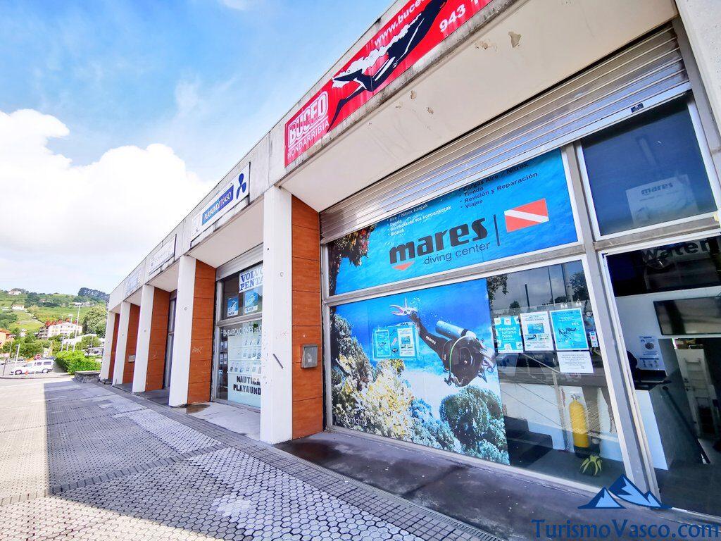 centro de buceo de Hondarribia, buceo en Hondarribia