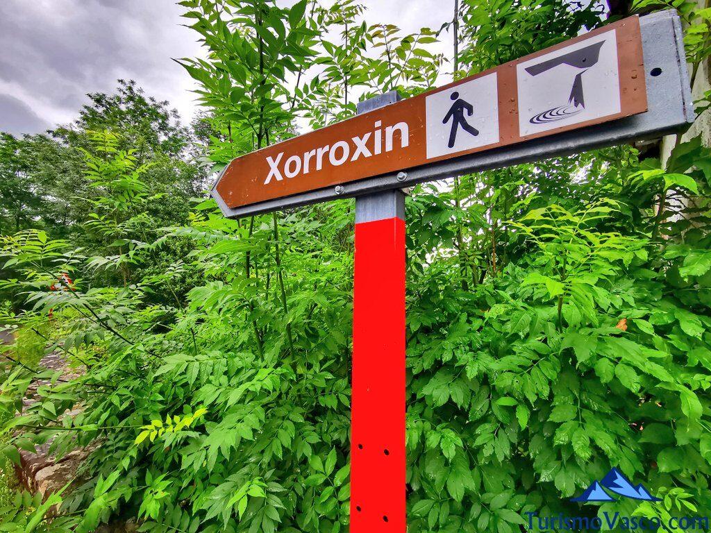 cartel xorroxin, cascada de Xorroxin